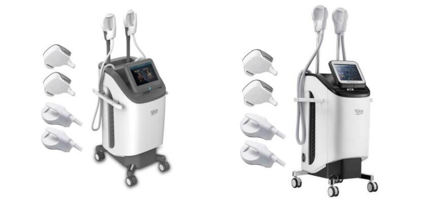 Exhibición y pantallas de la máquina adelgazante del cuerpo electromagnético